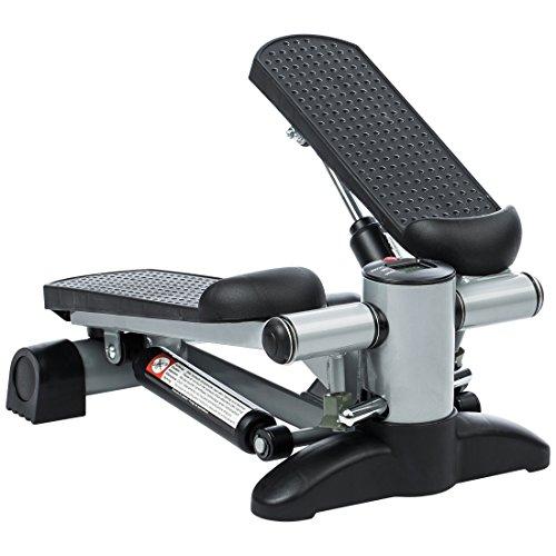 Ultrasport Up-Down-Stepper für Fitness und Aerobic, Ministepper mit Trainingscomputer und großen Trittflächen