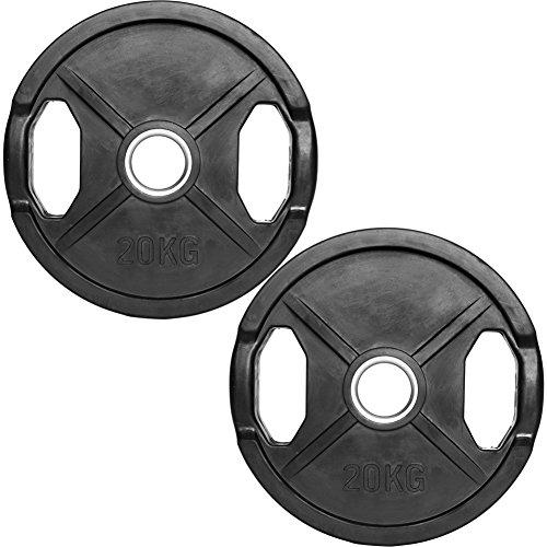 C.P.Sports Olympiascheiben gummiert 2x 20kg (40kg)
