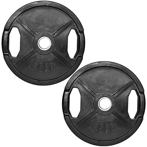 C.P.Sports Olympiascheiben gummiert 2x 25kg (50kg)