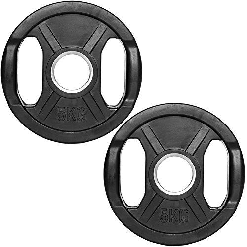 C.P.Sports Olympiascheiben gummiert 2x 5kg (10kg)