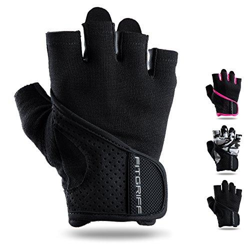 Fitgriff Fitness Handschuhe für Damen und Herren ohne Handgelenkbandage