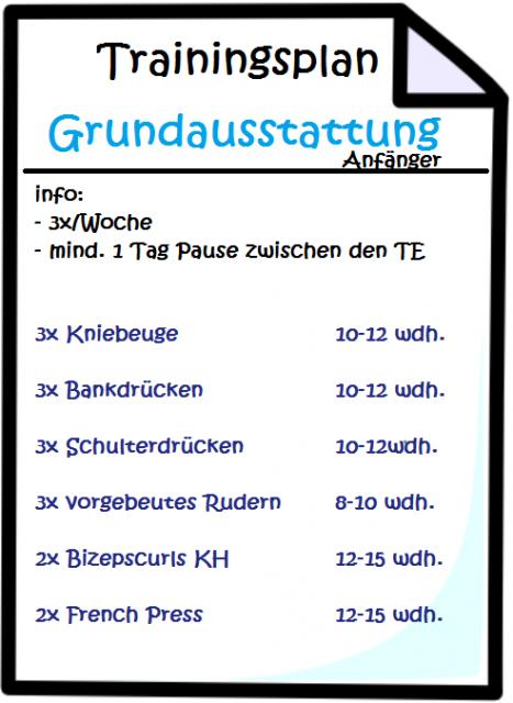Trainingsplan Zuhause